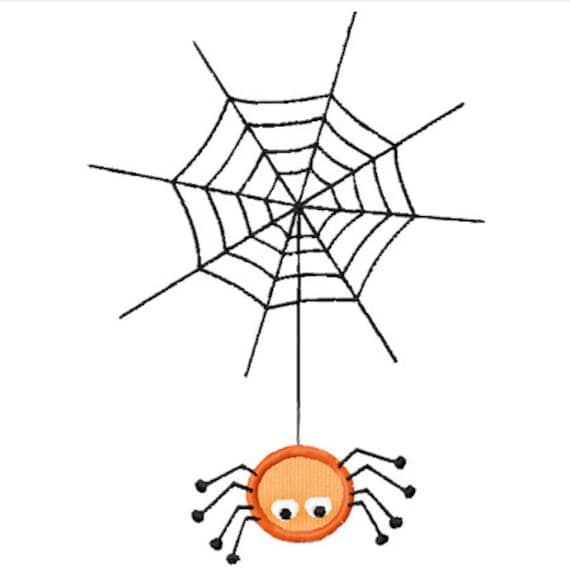 Halloween Spider Web Applique Machine Embroidery Design Etsy