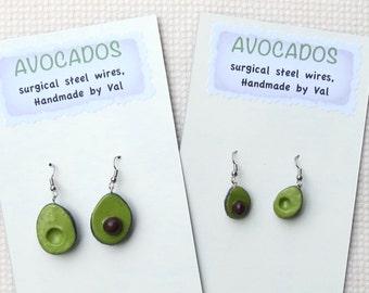 Avocado Earrings and Pin