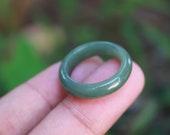 Jade Ring Medium Green US Size 6 MTS630 Jadeite Ring Simple Jade Ring Jade Band Jadeite Band Green Jade White Jadeite For Her Premium Ring