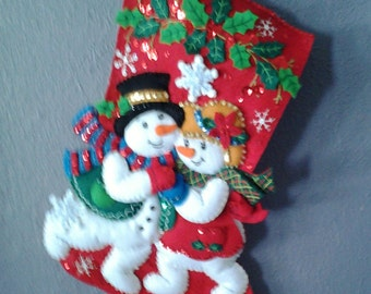 Love is in the Air Christmas stocking
