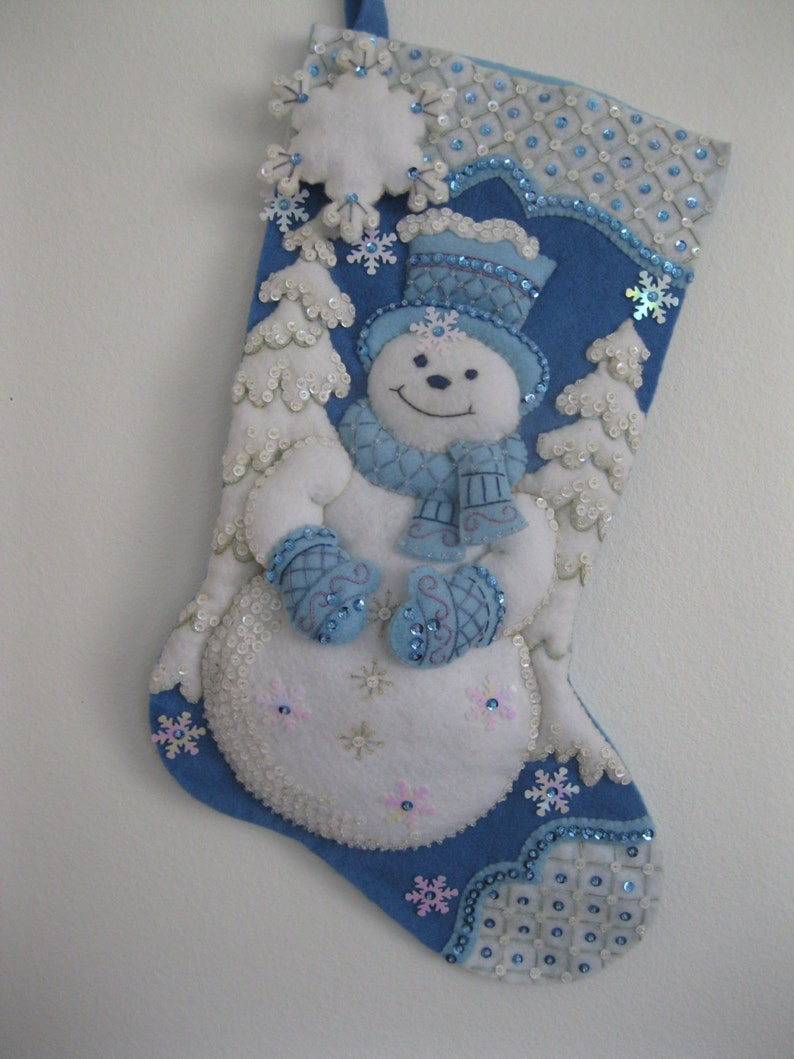 Winter Wonderland Snowman Christmas Stocking