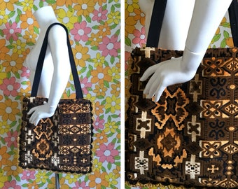 SALE! Tapestry Large Tote Bag Made With Vintage Fabric
