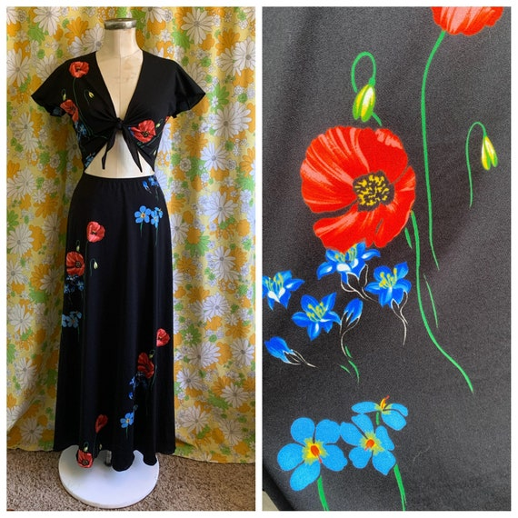 70s 80s Mills & Co by Tracy Mills 2 Piece Poppies