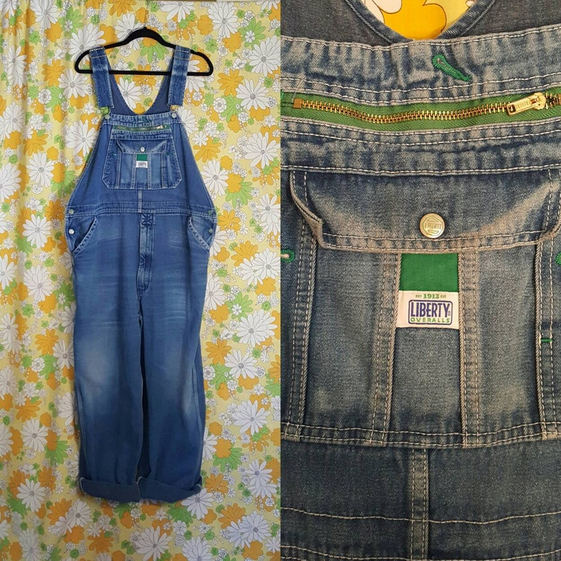 big collection best place for limited price SALE! 80s 90s Vintage Liberty Denim Overalls Waist 44 Mens Large XL Love  Street Salvage