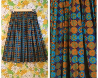 SALE! 60s Vintage Pykettes Floral Skirt Small XS