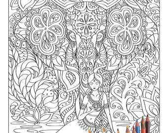 India coloring book | Etsy