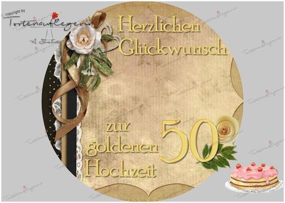 Tortenaufleger Zur Goldenen Hochzeit Silberhochzeit Hochzeit Verlobung Jubiläum Und Mehr Mit Oder Ohne Foto