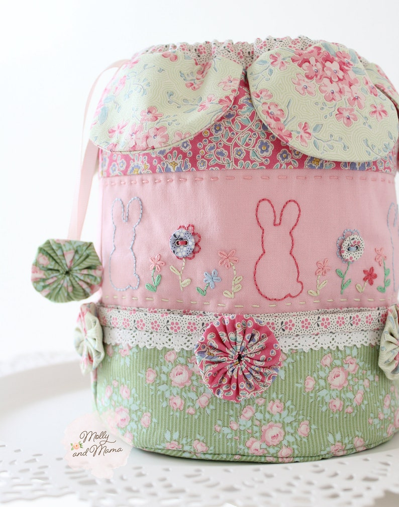 EASTER DILLY Bag Pattern  PDF download drawstring bag with image 0