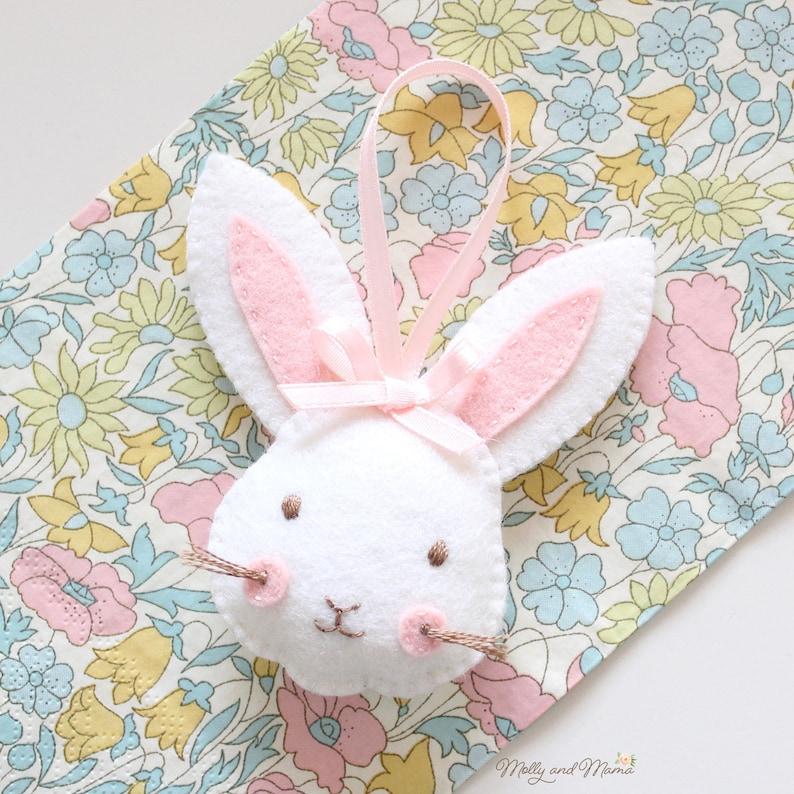 FELT RABBIT PDF Pattern  'Rosie Rabbit' Easter image 0