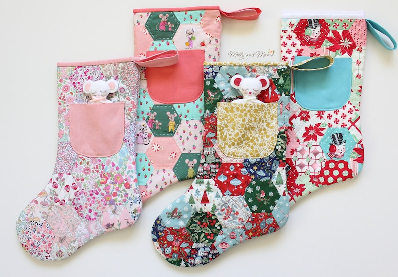 Night Before Christmas STOCKING Pattern  PDF download for image 0