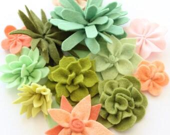 COCO FLOWER CROWN Pdf Pattern - felt, flower wreath, hair accessory, hair crown, flower girl, felt succulents, digital download,