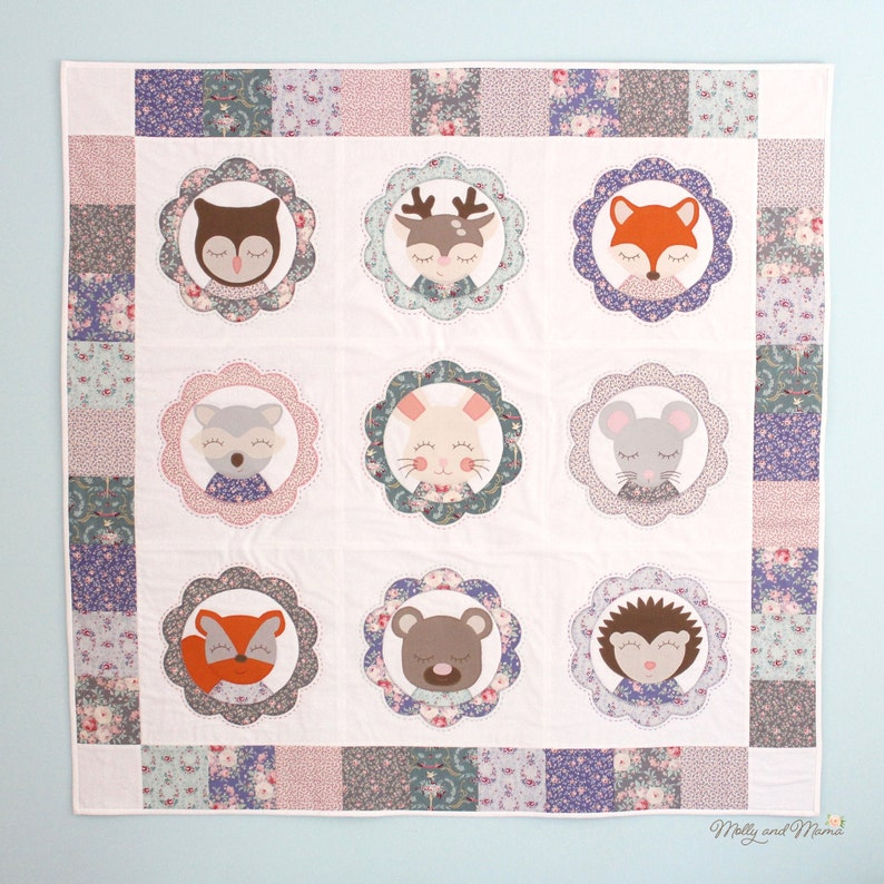 Forest Family Quilt  PDF Sewing Pattern for Woodland Forest image 0
