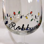 Custom Wine Glasses (3) - Michelle