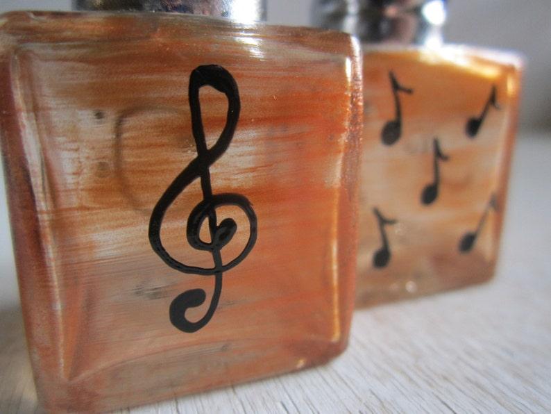 Salt & Pepper Music in Gold Handpainted Mini Shakers image 0