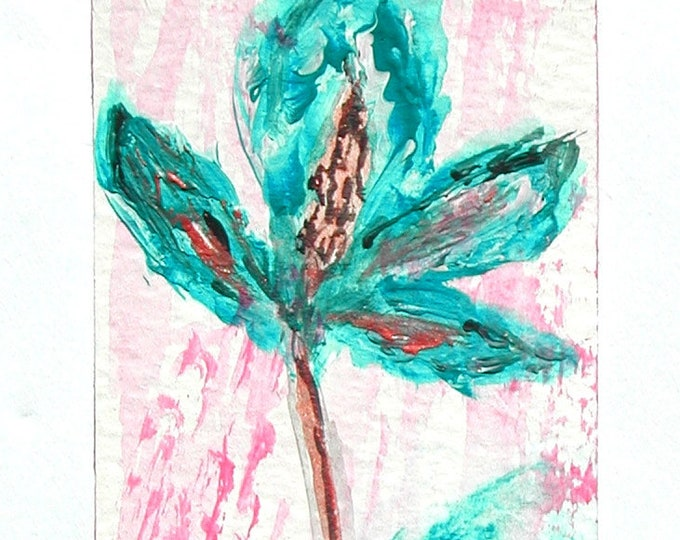 Hand-painted flower-patterned bookmark, hand-painted floral page mark, small mark page painting