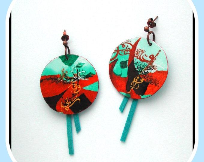 Round Ethnic Earrings, Ethnic Patterns, Round Ethnic, Round Turkish, Round on Ear Studs