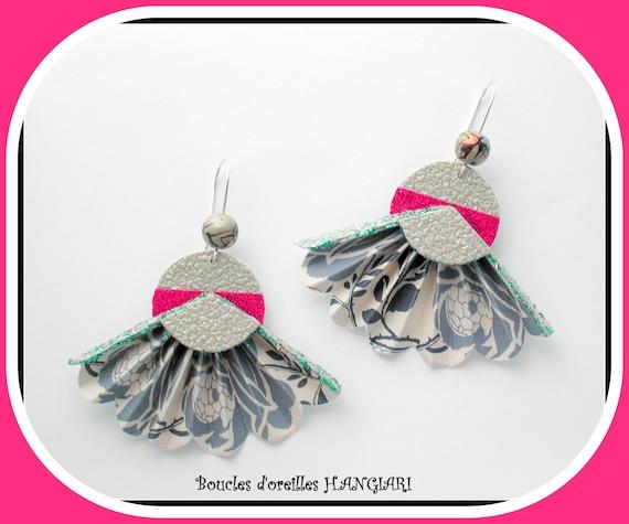 ETSY // Jewel, origami earrings, fan earrings, original origami earrings, large fan earrings