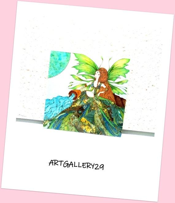 VERSEAU-- Fairy magnet of the aquarius, fairy magnet of the aquarius, astrological sign of the aquarius, fridge decoration sign of the waterworm