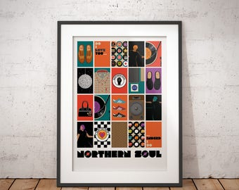 Northern Soul - Keep The Faith -  signed art print