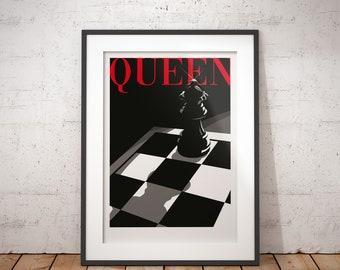 Queen - Chess signed art print