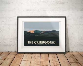The Cairngorms, Highlands, Scotland, UK - signed travel poster print