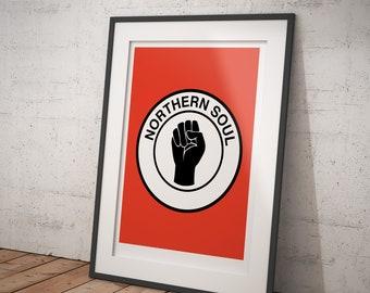 Hand Logo Northern Soul - Keep The Faith - signed art print