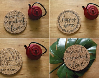 Hand-carved table mats.
