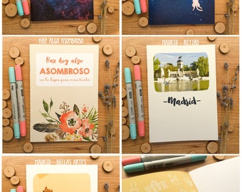 Illustrated notebooks for drawing or writing