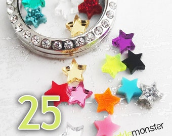 Mini Stars For Lockets