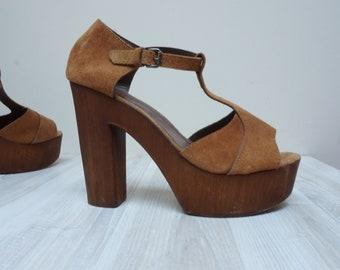 c26c5940aec7d Faux wooden clogs | Etsy