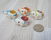 4 porcelain elephant cake candles topper top candleholders Collectible candlestick holder candle stick tiny mini set of small animal safari