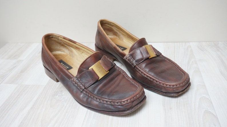 50d799a92f1 Bally loafers Brown shoes boots Women real genuine leather