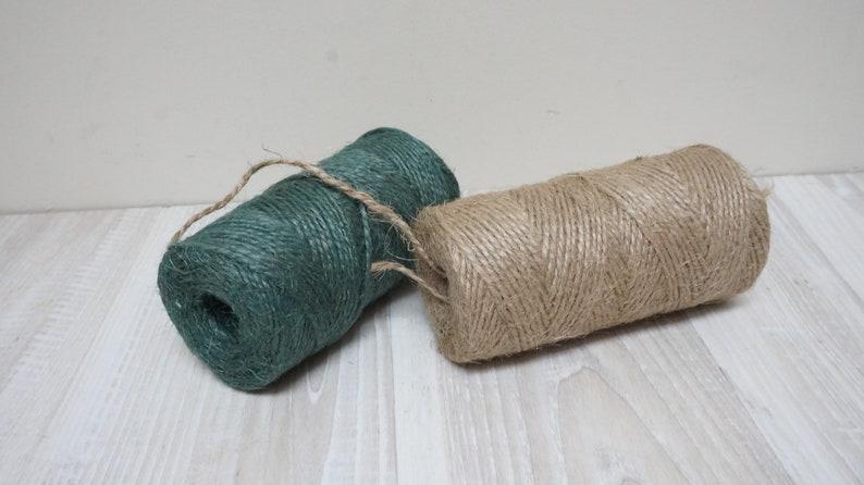 100 M 109 Yard Jute Twine Craft Cord Yarn Rope Macrame Gift Etsy