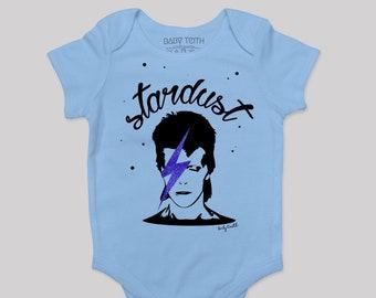 716bf68ca Stardust Baby Bodysuit// lavender unisex onesie Ziggy Stardust inspired David  Bowie fans cool kids fashion music