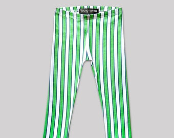 Wonderwall Leggings// striped cotton spandex printed high waisted kids girls toddlers babies brit pop