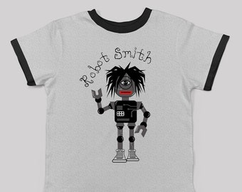 Robot Smith tee for big kids inspired by The Cure/ unisex alternative cool kids fashion robert smith the cure fan 80s 90s new wave band tee