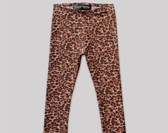 Wild Thing Leggings// cheetah print high waisted cotton spandex girls kids toddlers babies leggings
