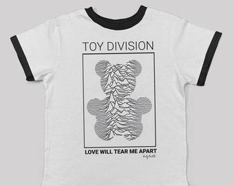 Toy Division kids band tshirt / unisex alternative kids fashion joy division fan 80s 90s new wave dark wave post punk graphic band tee