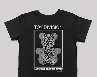Toy Division Kids Tshirt / toddler boy or girl / Size 2T - 6T / Cool Baby Clothes / Joy Division