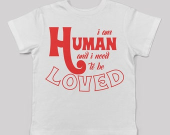 I am Human tee for toddlers/ unisex alternative kids fashion the smiths morrissey fan 80s 90s britpop graphic band tee