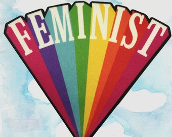 """Feminist 3"""" Printed Patch"""
