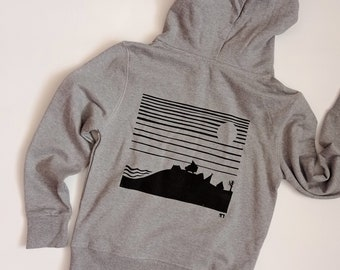 Camping organic ethical hoody for kids