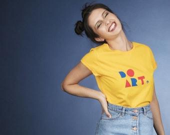 DO ART organic t-shirt for women in golden yellow