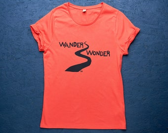 Wander Wonder organic t-shirt for women in coral