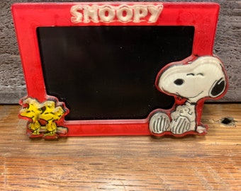 "Peanuts Snoopy /& Woodstock  Stained Glass Window   FRIDGE Magnet 2.5/"" x 3.5/"""