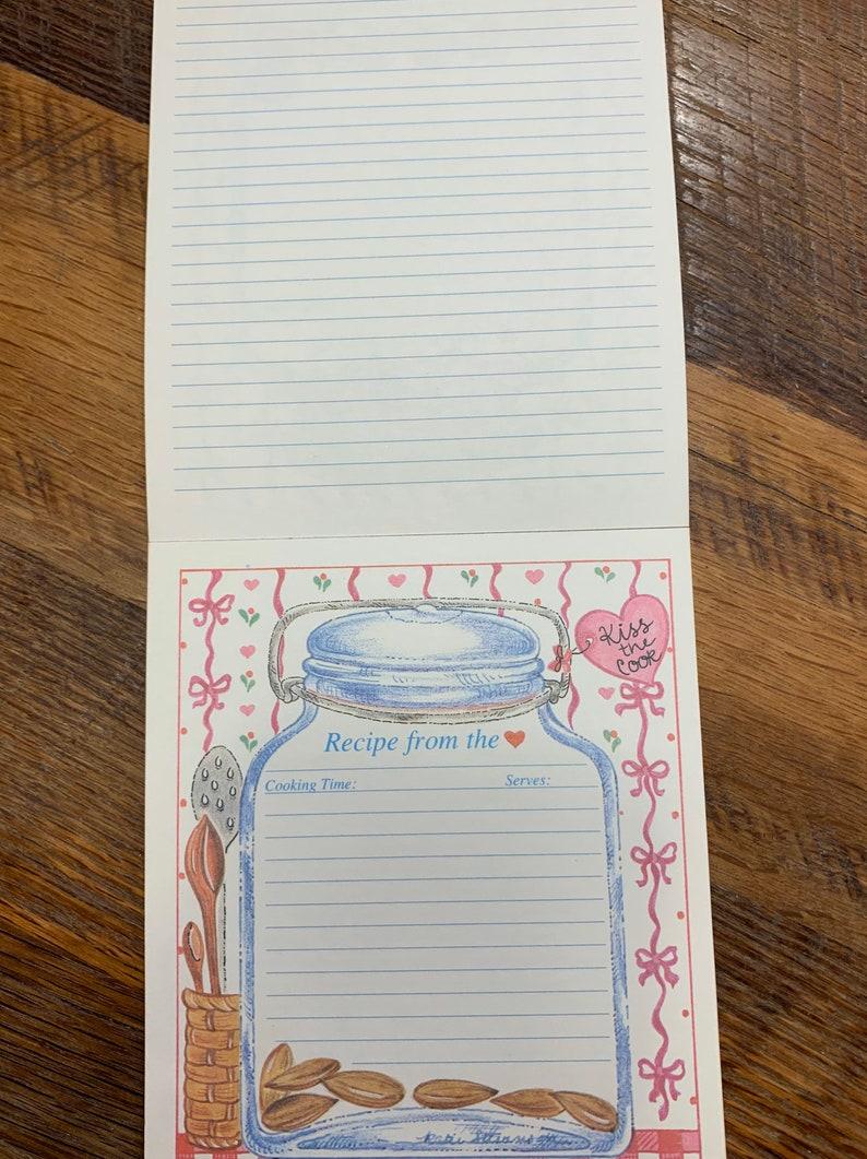Vintage recipe cards strawberries cookies baking mason jars