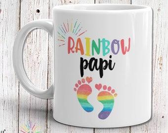 Grandpa Gift, Grandfather Gift, Grandpa Mug, Grandfather Mug, Papi Gift, Papi Mug, New Baby Gift, Rainbow Baby Gift, Rainbow Baby Shower