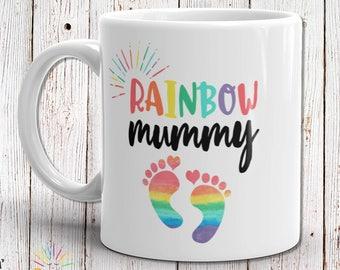 Pregnancy Reveal Mug, Pregnancy Gift, Pregnancy Announcement Mug, Rainbow Baby Gift, Rainbow Baby Shower Gift, Baby Mug, Gift For Mom