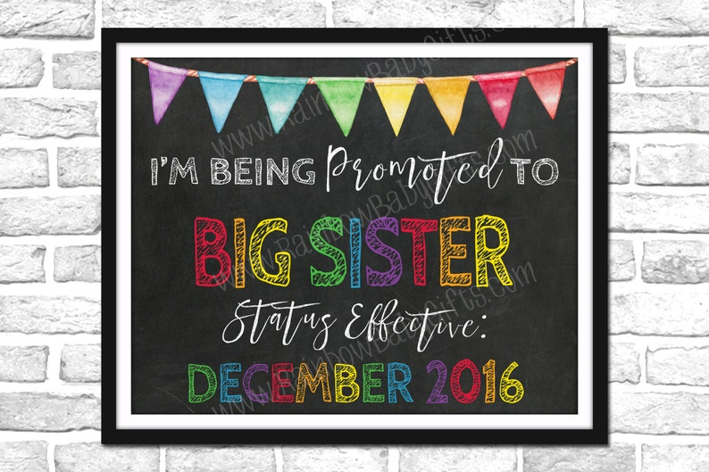 I'm Being Promoted To Big Sister Pregnancy Announcement image 0