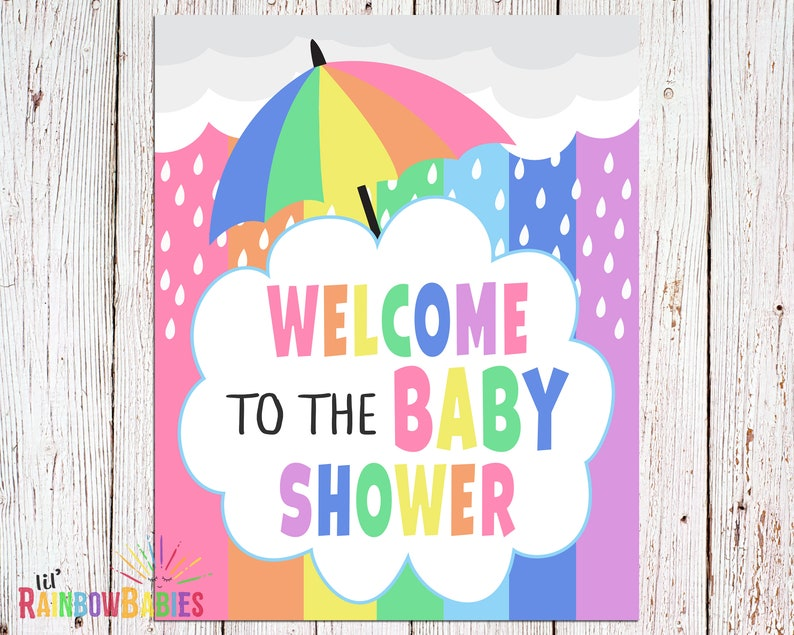 PRINTABLE Welcome Baby Shower Sign Baby Shower Party Sign image 0